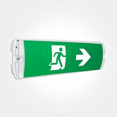 £11.99 • Buy LED Emergency Light Maintained/Non-Maintained Bulkhead Exit Sign IP65.