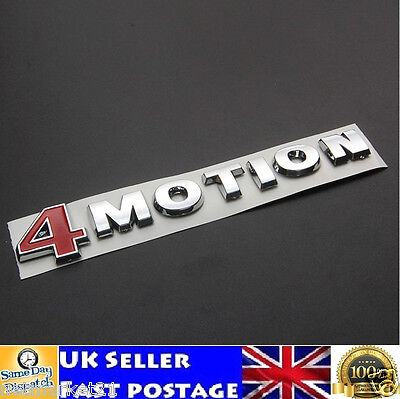 4 MOTION VW Emblem Badge ABS Badge Sticker Logo Golf Polo Touareg Passat Jetta • 8.95£