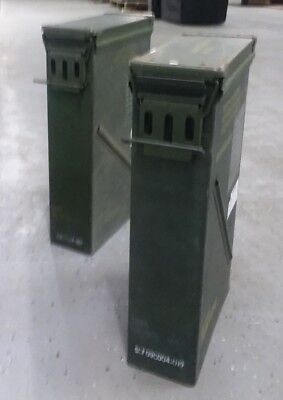 $38.88 • Buy US Military Surplus 81mm M821A2 Ammo Can  LOT OF 2 Airtight Storage 23 X14x6