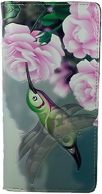Shagwear Ladies Wallet, Large Purse: Hummingbird With Rose • 23.99£