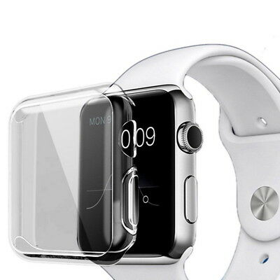 $ CDN2.67 • Buy Clear Case Cover Screen Protector For IWatch 38/42MM Apple Watch Series 4/1/2/3