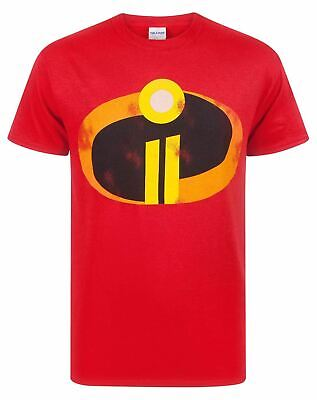 The Incredibles 2 Men's Adults Costume Red T-Shirt Top • 12.99£