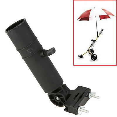 AU6.42 • Buy Adjustable Black Golf Umbrella Holder Stand For Buggy Cart Baby Pram Wheelchair/