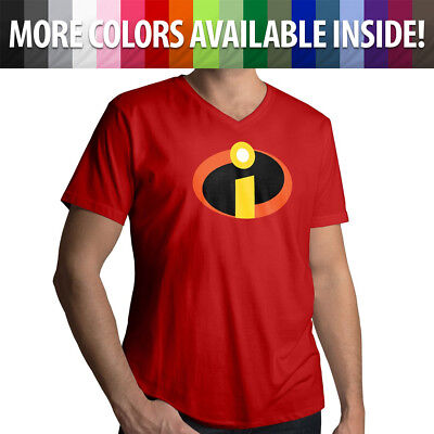 Disney The Incredibles Logo Symbol Costume Unisex Mens Women Tee V-Neck T-Shirt • 11.39£