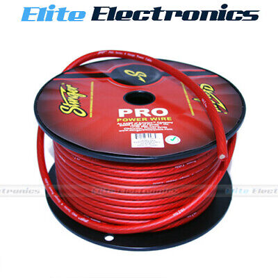 AU11.95 • Buy Stinger 4 Awg Gauge Red Amplifier Power Cable Wire Spw14tr