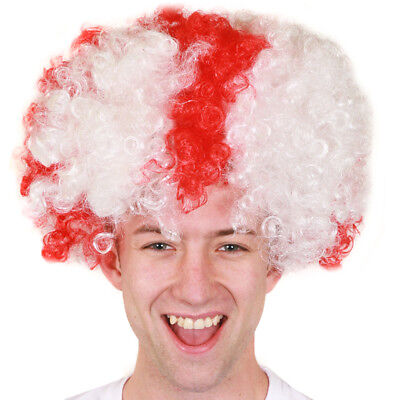 £6.99 • Buy England Flag Afro Wig World Cup Russia 2018 Football Supporters Fancy Dress