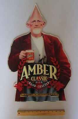 $ CDN53.32 • Buy Stevens Point AMBER CLASSIC Cone Head Acrylic Mirrored Style Beer Sign No Tap