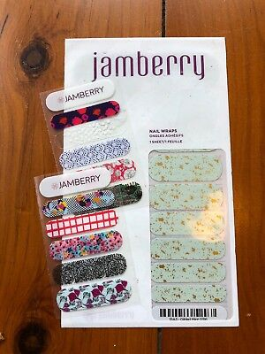 AU8 • Buy Jamberry Nail Wraps Full Sheet In Gilded Mint Plus 2xbonus