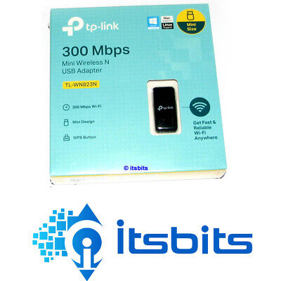 AU28.50 • Buy TP-LINK TL-WN823N MINI WIRELESS N USB ADAPTOR 300Mbps  3 YR Warranty WPS Button