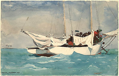 $16.99 • Buy Winslow Homer Watercolor Reproductions: Key West, Hauling Anchor: Fine Art Print