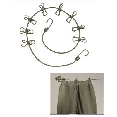 $9.87 • Buy Military Army Camping Survival Bungee Clothesline With Wire Clothes Pegs & Hooks