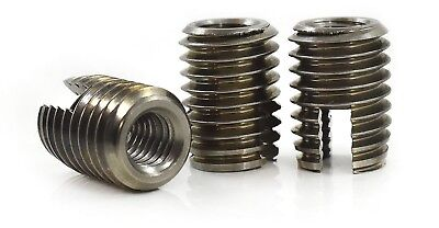 £5.99 • Buy Stainless Steel Slotted Self Tapping Threaded Inserts Nuts M3 M4 M5 M6 M8