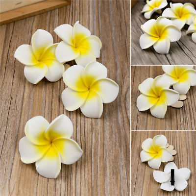 $1.23 • Buy 6Pcs Women Plumeria Flower Hair Clip Barrette Hawaiian Wedding Party Accessories