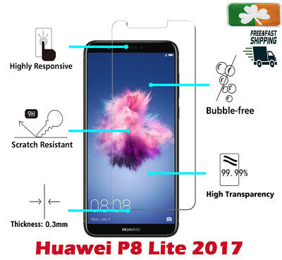 Premium Quality Tempered Glass Screen Protector Film For Huawei P8 Lite 2017 • 3.55£