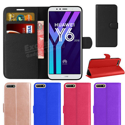 For Huawei Y6 2018 Phone Case Luxury Leather Magnetic Flip Wallet Stand Cover • 2.95£
