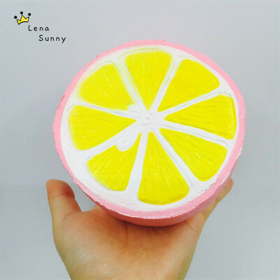 AU21.50 • Buy Jumbo Kawaii Soft Squishes Squishy Slow Rising FRUIT  Cartoon Scented Toys - 2!