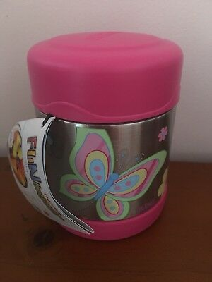 AU24.98 • Buy NEW Thermos Funtainer S/Steel Vacuum Insulated Food Jar 290ml Butterfly