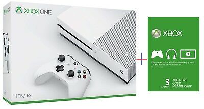 View Details Xbox One S 1TB System Bundle (1TB) 3 Month Xbox Live  Brand New • 236.99$