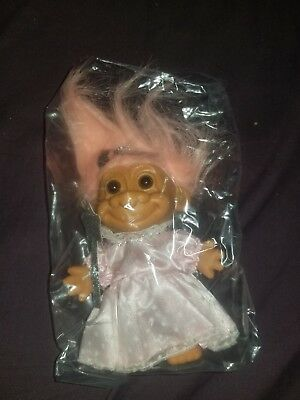 "5/"" Russ Troll Doll NEW IN ORIGINAL WRAPPER CHRISTMAS ANGEL"