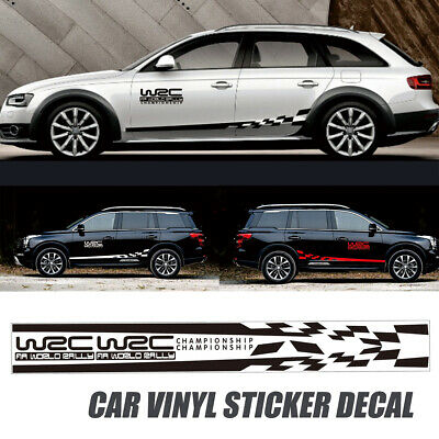 0e88c0f417 2Pcs Car Side Body Vinyl Decal Sticker Racing Sports Long Stripe Decals  Graphics • 10.15
