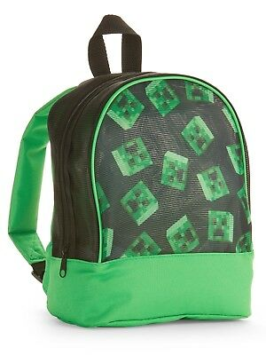 b3f5238eff Minecraft Creeper Mesh Mini Backpack Book Bag Tote • 14.88