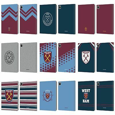 OFFICIAL WEST HAM UNITED FC 2018/19 CREST LEATHER BOOK CASE FOR APPLE IPAD • 22.95£