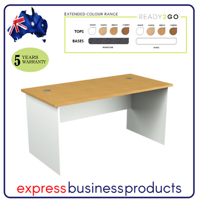 AU225 • Buy Ready 2 Go Office Straight Desk - Assorted Dimensions, Colours & Top Design