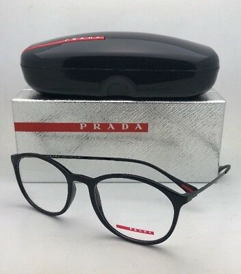 c174ebc8138b New PRADA Eyeglasses VPS 04H 1AB-1O1 53-19 140 Shiny Black   Red