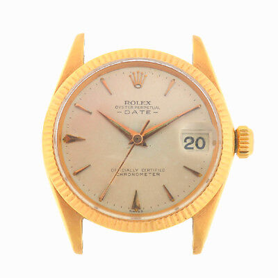 $ CDN8144.80 • Buy Rolex 6627 Vintage 18k Yellow Gold Date Automatic Head Only Circa 1950