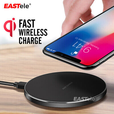 AU13.99 • Buy Qi Wireless Charger FAST Charging Pad For IPhone 12 11 Pro Samsung S21 S20 S10