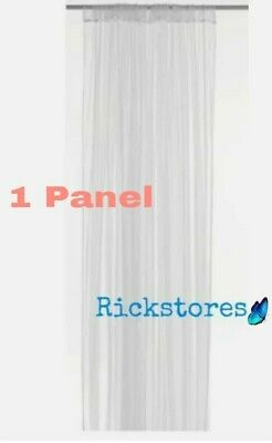 IKEA 1 X PANEL Of Long Sheer White Net Lill Curtains   280 X 250 Cm • 5.89£
