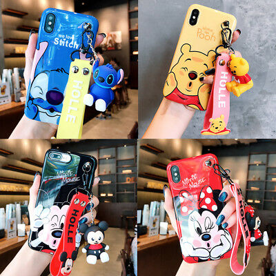 AU11.57 • Buy Cute Stitch Minnie Pooh Wristband Case Cover For IPhone 12 11 Pro XS Max XR 7 8+