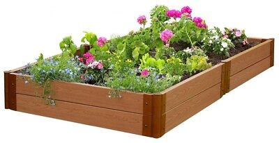 Raised Garden Bed Kit 4 Ft. X 8 Ft. X 11 In. Expandable Classic Sienna Composite • 213.63£