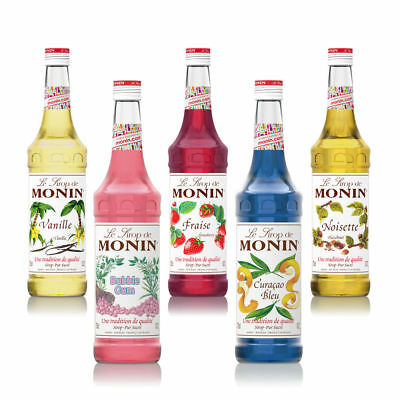 NEW Monin Coffee & Cocktail 70cl/700ml Glass Syrup Flavours • 7.74£