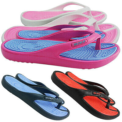 Womens Mens Ladies Summer Beach Surf Toe Post Flip Flops Sandal Shoes Size Jelly • 5.95£