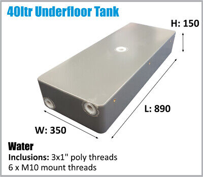 AU130 • Buy 40ltr Trayback Ute Undertray 4x4 4wd Camper Trailer Water Tank.  Ask Freight.