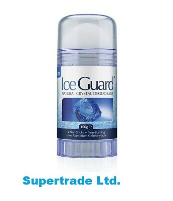 2 X Ice Guard Twist Up Natural Crystal Deodorant Roll On Non Sticky 120g • 9.49£
