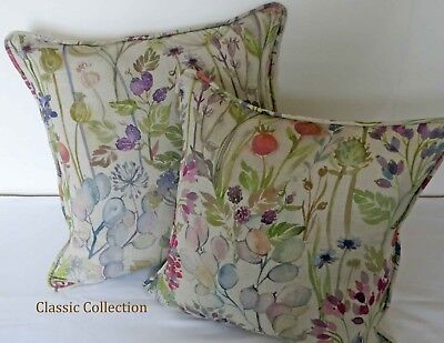 £18.95 • Buy Voyage- Hedgerow Linen  Watercolour -self Piped Cushion Cover- Many Sizes