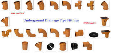 Underground Drainage 110mm Pipe Fittings, Bends, Traps Gully CHEAP! FREE P&P £30 • 1.50£