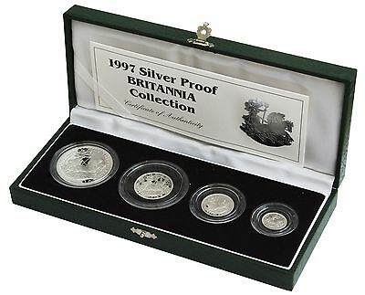 £249.99 • Buy Britannia Silver Proof 4 Coin Set Cased With Coa Choice Of Year