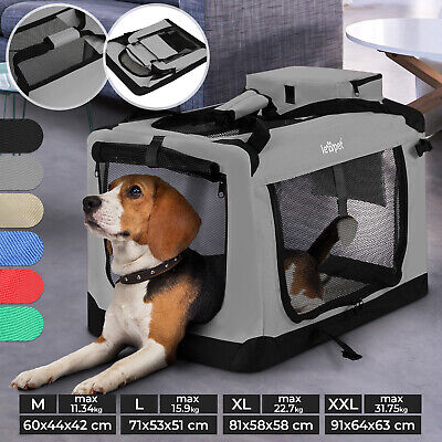 View Details Pet Crate Carrier Box Travel Bag Soft Fabric Collapsable Portable Dog Cat Pet • 50.95£
