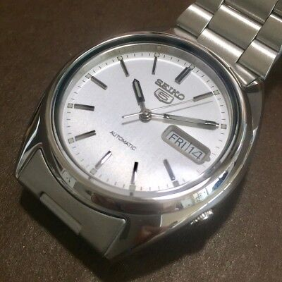 $ CDN187.70 • Buy SEIKO 5 SNXF01K1 21 Jewels Automatic Army Silver Vintage Discontinued 100% New!