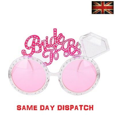 Bride To Be Glasses Hen Night Party Accessories Novelties Diamond Ring Favours • 1.98£