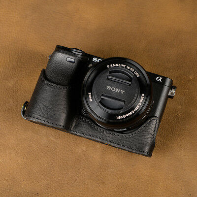 $ CDN158.66 • Buy Sony A6000 A6300 Handmade Hand Crafted Cowhide Leather Half Case Battery Access