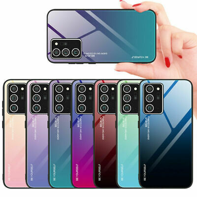 $ CDN5.09 • Buy Luxury Tempered Glass Hard Case Cover For Samsung S21 S20 FE S10+ Note20 Ultra