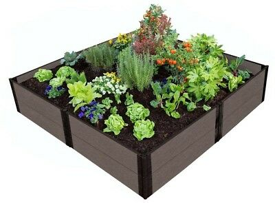 Raised Garden Bed 8 Ft. X 8 Ft. X 11 In. Weathered Wood Composite Expandable • 180.65£