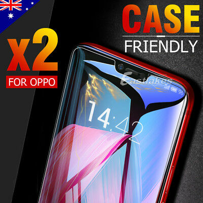 AU4.95 • Buy 2x Tempered Glass Screen Protector For Oppo A52 A5 A9 Reno2 Z Reno4 R15 A15 A54
