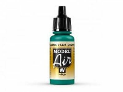 Vallejo Model Air 71331 - Cockpit Emerald Green Faded - 17ml  Airbrush Paint • 3.64£