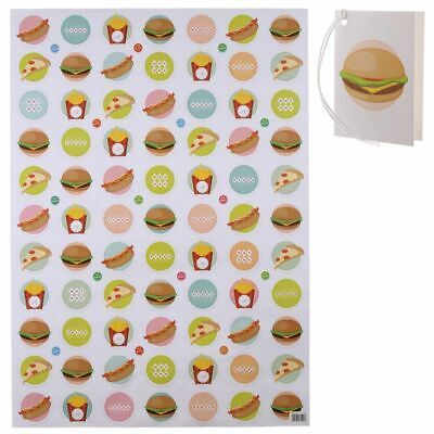 £1.95 • Buy Burger Fast Food Design Gift Wrapping Paper Sheet & Tag Quality Male Female Kids