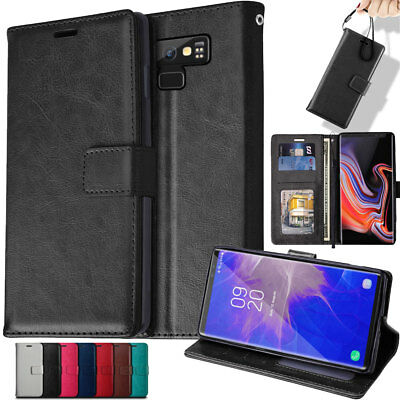 TECHGEAR Flip Slim Leather Wallet Case Cover Stand For Samsung Galaxy Note 9 • 3.95£